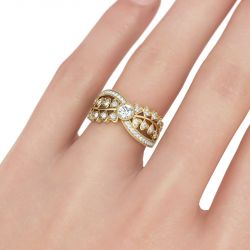 Round Cut Heart Sterling Silver Women's Ring