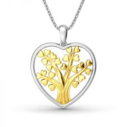 Circle Of Life Heart-Shaped Pendant