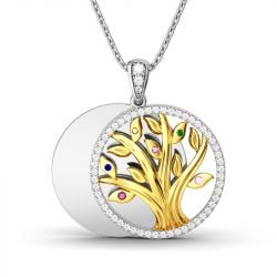 Jeulia Circle Of Life Layering Pendant