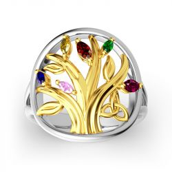 Jeulia Tree Of Strength And Connection Ring