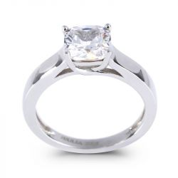 Cushion Cut Sterling Silver Ring