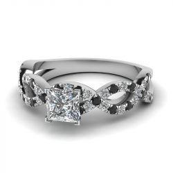 Jeulia Princess Cut Sterling Silver Ring