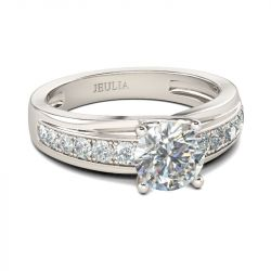Jeulia Channel Setting Round Cut Sterling Silver Ring