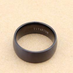 Black Titanium Steel Men's Band