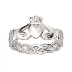 Simple Claddagh Stainless Steel Men's Band