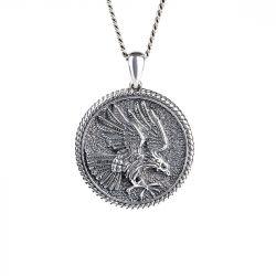 Eagle Men's Sterling Silver Necklace