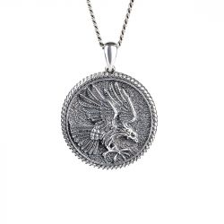 Eagle Men's Sterling Silver Necklace