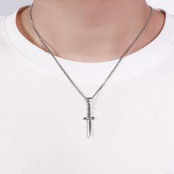 Dagger Sterling Silver Men's Necklace