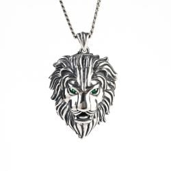 Lion Sterling Silver Men's Necklace