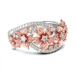 Floral Sterling Silver Women's Band
