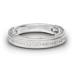 Vintage Carving Sterling Silver Women's Band