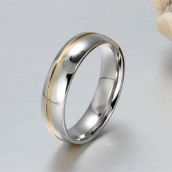 Two Tone Couple Rings Stainless Steel