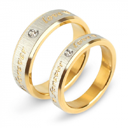 """Forever Love"" Titanium Steel Couple Ring"