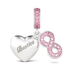 Infinity Besties Charm Sterling Silver
