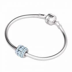 March Birthstone Charm Sterling Silver
