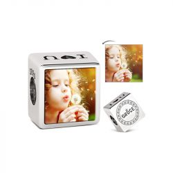I Love You Photo Charm Sterling Silver