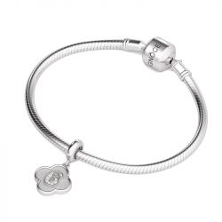 Number Six Charm Sterling Silver
