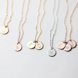 Initial Necklace Sterling Silver