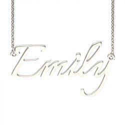 Silver Italianno Regular Style Name Necklace