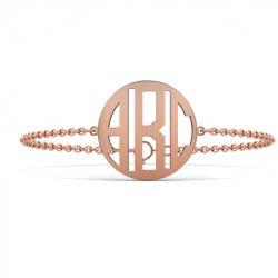 Block Monogram Bracelet Sterling Silver