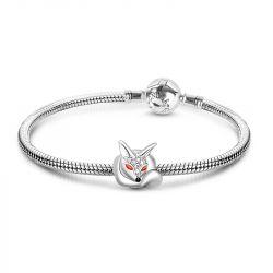 Fox Charm Sterling Silver