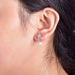 Star Bypass Sterling Silver Ear Jackets