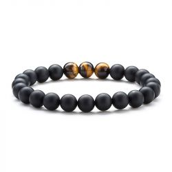 Simple Bead Stretch Men's Bracelet