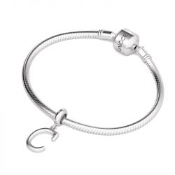 Letter C Dangling Charm Sterling Silver