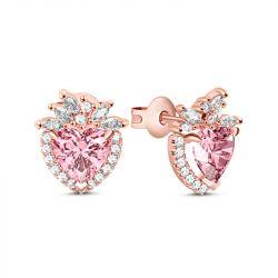 Halo Heart Cut Earrings
