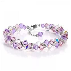Romantic Purple Crystal Bracelet