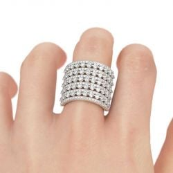 Bold Sterling Silver Cocktail Ring
