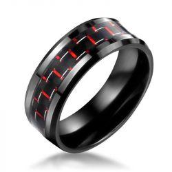 Carbon Fibre Ceramic Titanium Steel Men's Ring