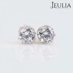 Classic Crown Sterling Silver Stud Earrings