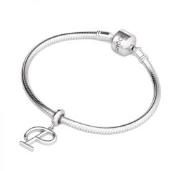 Letter P Dangling Charm Sterling Silver