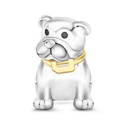 Bulldog Charm Sterling Silver