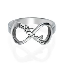 Infinity Name Sterling Silver Ring