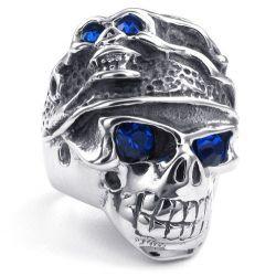 Bold Titanium Steel Men's Skull Ring