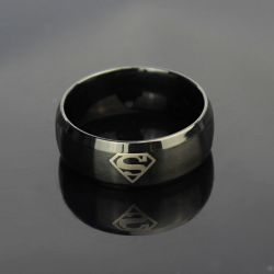 Jeulia Cool Superman Titanium Steel Men's Band