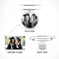 Personalized Laser Engraved Photo Bangle