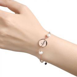 Disc Cultured Pearl Sterling Silver Bracelet