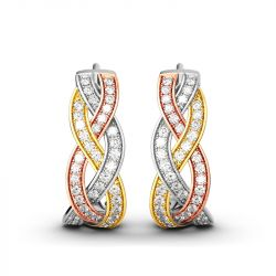 Intertwined Tri-Tone Earrings
