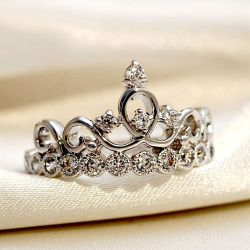Crown Sterling Silver Ring