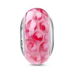 Pink Petal Glass Charm
