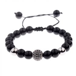 Bead Adjustable Men's Bracelet