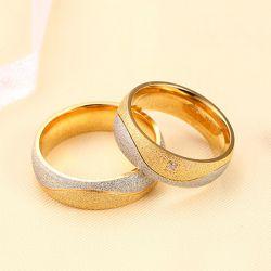 Two Tone Couple Rings Titanium Steel