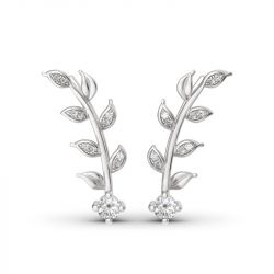Sterling Silver Leaves Earring Climber