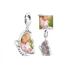 Butterfly Photo Charm Sterling Silver