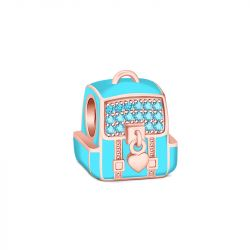 Cute Backpack Charm Sterling Silver