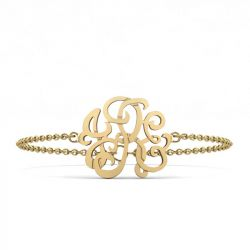 Custom Monogram Bracelet Sterling Silver