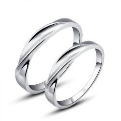 Twist Couple Rings Stainless Steel
